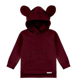 Bluza dresowa Mouse bordowa