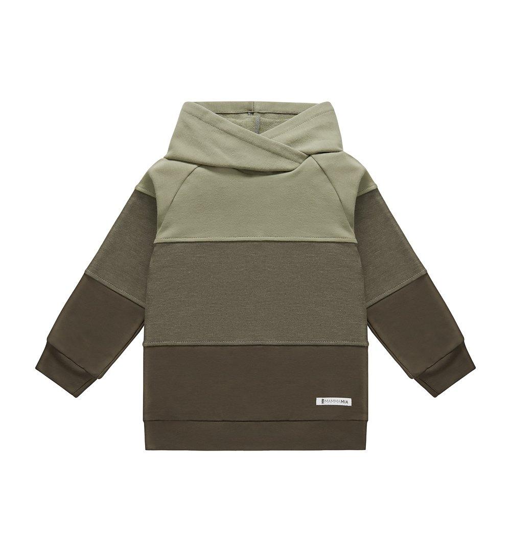 2d4f3cf8ec00 Bluza 3 kolory z zielonym kapturem zielony   Dziecko