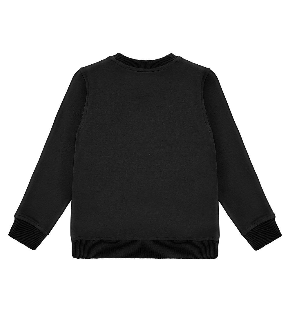 52e720e21d Bluza czarna z nadrukiem kotka czarny