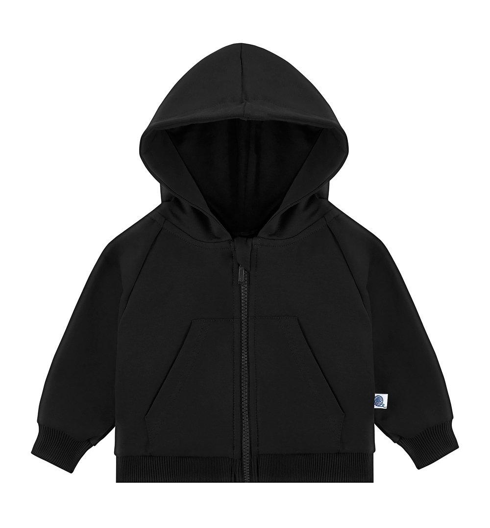 3d2b574a61e12 Bluza rozpinana z kapturem czarna; Bluza rozpinana z kapturem czarna ...