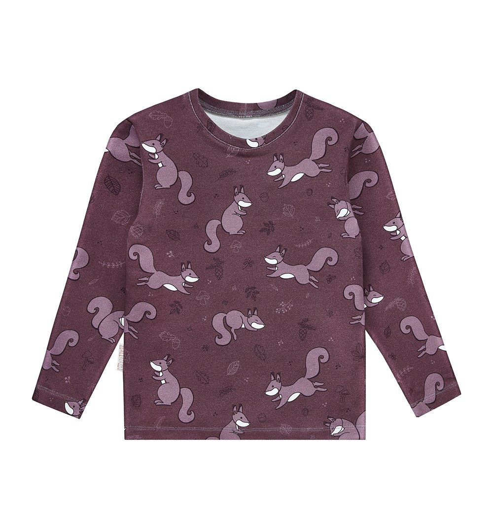 3fad2df664b6 Bluzka purpurowa wiewiórka  Bluzka purpurowa wiewiórka ...