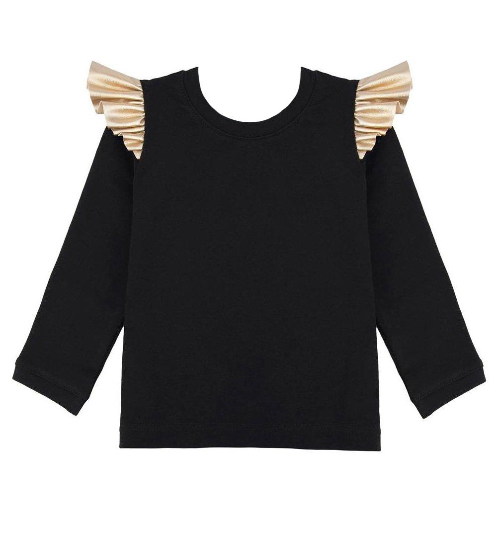 e592b1d4ee Bluzka z długim rękawem czarna czarny   Dziecko
