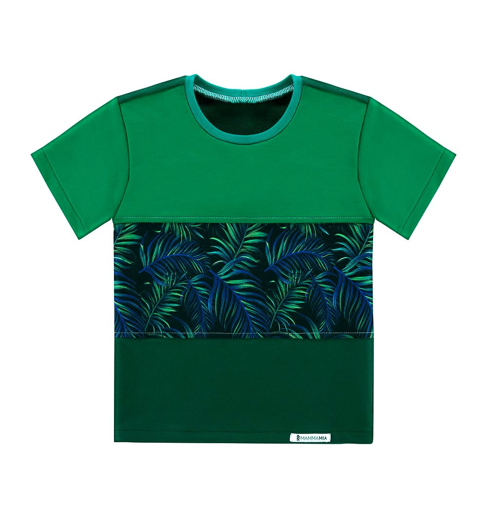 e4bfbc1b9 T-Shirt 3 kolory Egzotyczne Liście zielony \ Dziecko   Chłopiec \ T ...