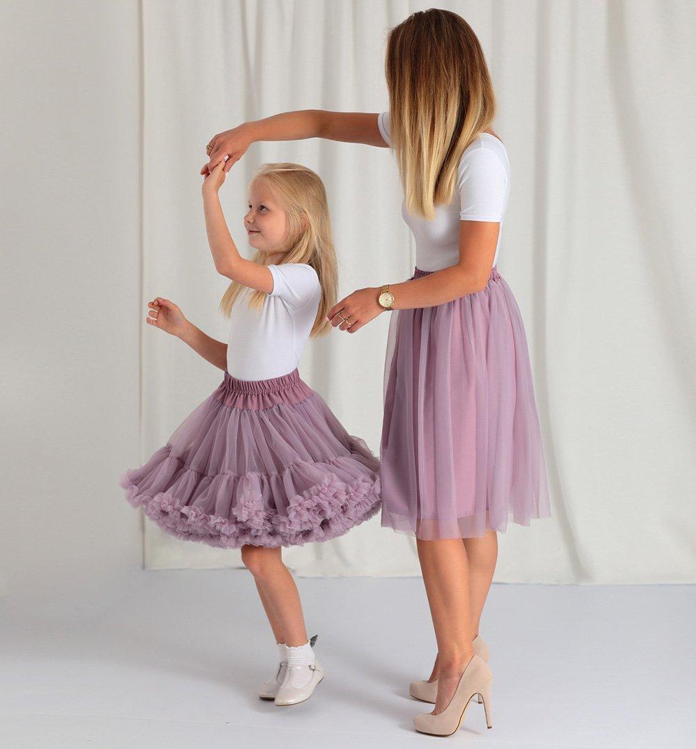 Zestaw spódnic dla mamy i córki fioletowy